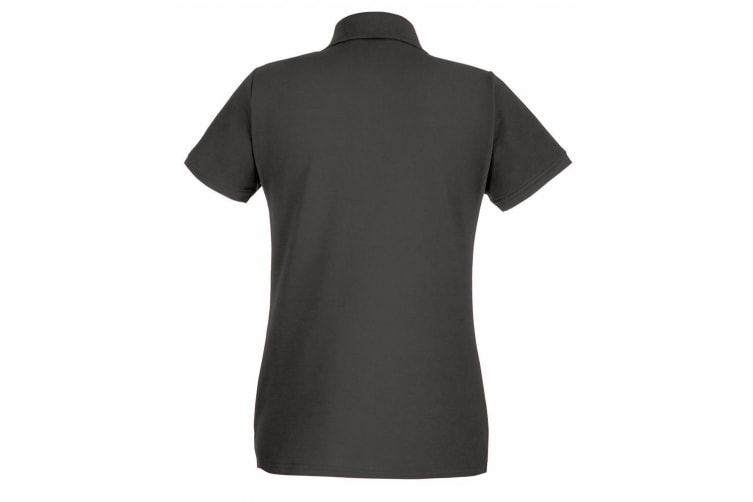 Fruit Of The Loom Ladies Lady-Fit Premium Short Sleeve Polo Shirt (Light Graphite) (S)