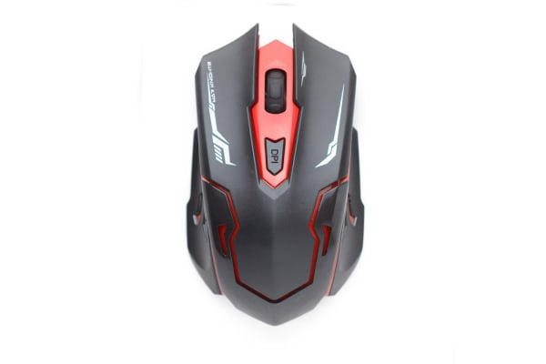Red 2.4GHZ RF Wireless Keyboard and Mouse Set