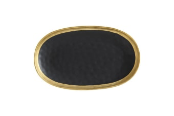 Maxwell Williams Swank Serving Dining Platter Oblong 36x22cm Black Gold AY0103