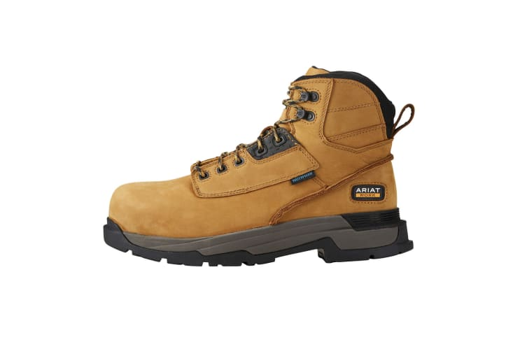 Ariat Mens Leather Mastergrip 6 H2O Safety Boot (Wheat) (9 UK)