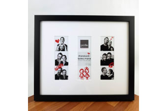 Black Timber Photo Booth Gallery Frame