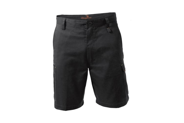 King Gee New G's Workcool Shorts (Black, Size 102R)