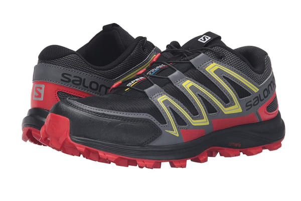 Salomon Men's Speedtrak (Black/Radiant Red/ Yellow, Size 9.5)
