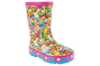 Shopkins Official Girls All Over Print Character Wellies (Multicoloured) (13 UK Child)