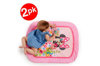 2x Bright Starts Minnie Mouse Garden Party Baby Infant Tummy Prop Mat Toys 0m+