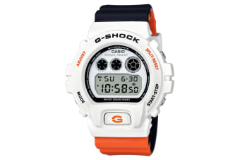 Casio G-Shock x Marok Men 51mm Digital Watch w/Stopwatch Alarm White/BLK/Orange