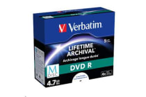 Verbatim 43821 M-Disc DVD R 4.7GB 5Pk JC White IJ Print