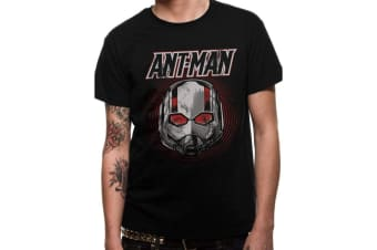 Ant-Man And The Wasp Unisex Adults Vintage Mask Design T-Shirt (Black)