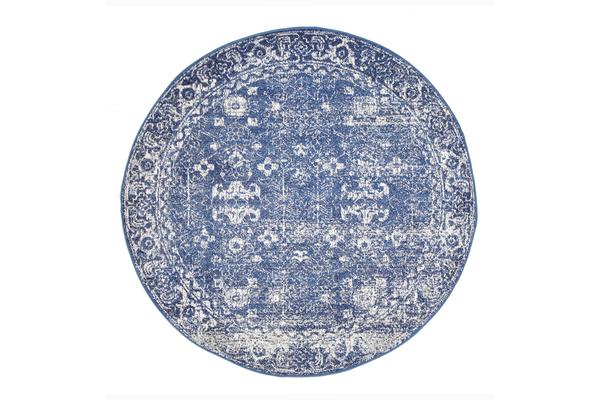 Oasis Navy Transitional Rug 200x200cm