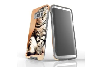 For Samsung Galaxy S8 Case  Armour Tough Cover  Sitting Cat