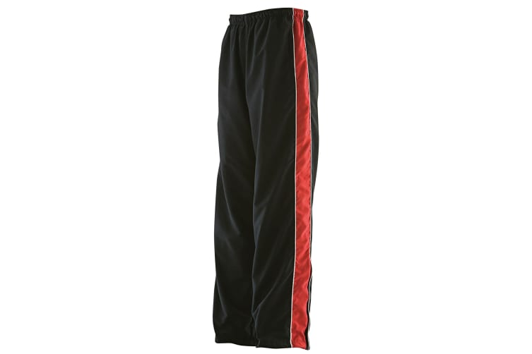 Finden & Hales Womens/Ladies Piped Track Pants (Black/Red/White) (S)