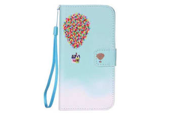 For iPhone 8 7 Wallet Case Modern Balloon House Leather Shielding Cover