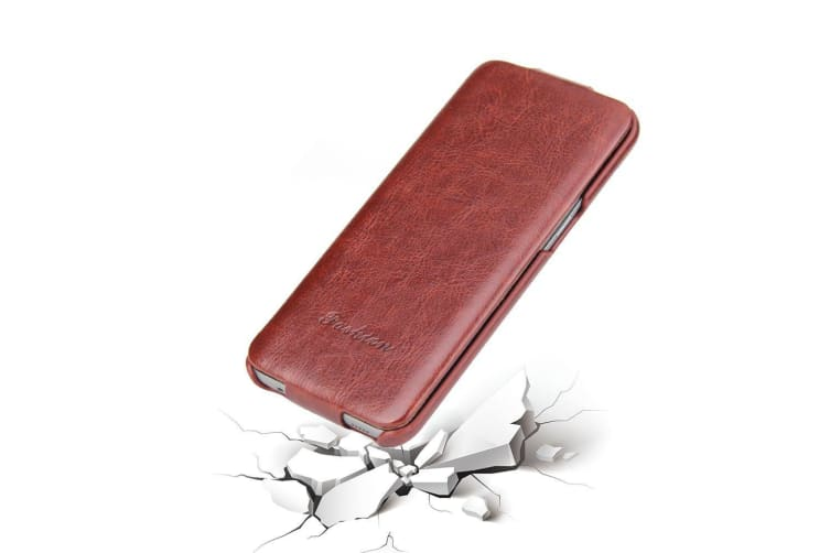 For Samsung Galaxy S9 Case Fashion Elegant Vertical Leather Flip Cover Brown