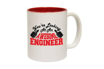 123T Funny Mugs - Engineer Youre Looking Awesome - Red Coffee Cup
