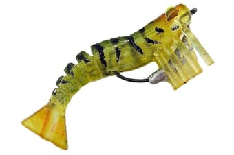 Zerek Live Shrimp - 50mm Pre Rigged Lumo Eyes - 01 Colour - Kevlar Jointed Body