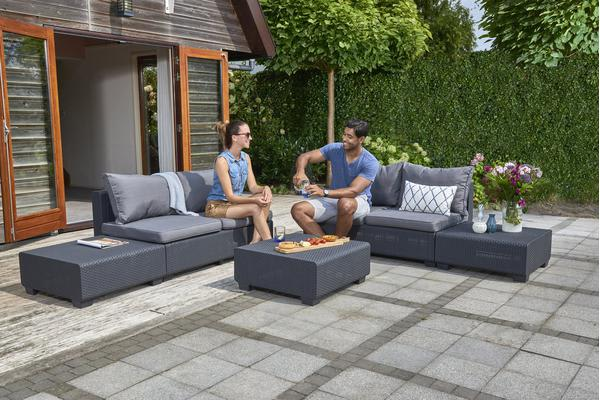 Keter Sapporo Outdoor Lounge Furniture Set Kogan Com