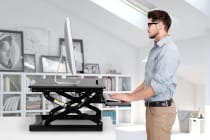 Kogan Height Adjustable Standing Desk Riser (Small, Black)