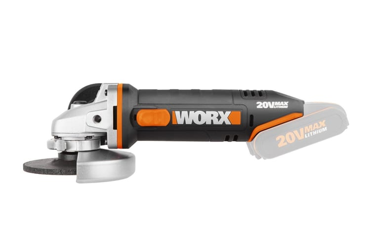 WORX 20v 115mm Cordless Angle Grinder (WX800.9) - Skin Only