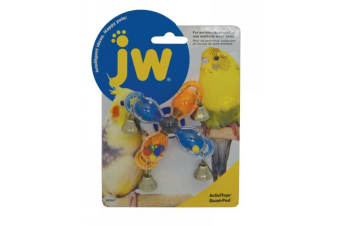 Quad Pod Plastic Toy with 4 Bells for Small Birds by JW Insight