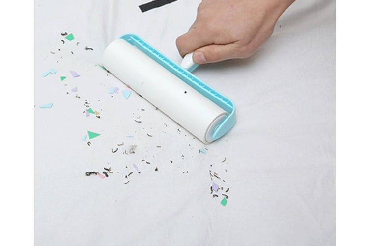 Drum Sticker Tearable Clothing Dust Hair Dust Removal Paper - Blue White Blue 19Cm