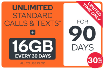 Kogan Mobile Prepaid Voucher Code: EXTRA LARGE (90 Days | 16GB Per 30 Days)