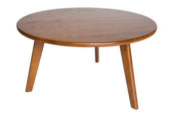 Replica Hans Wegner CH008 Round Wood Coffee Table | Walnut