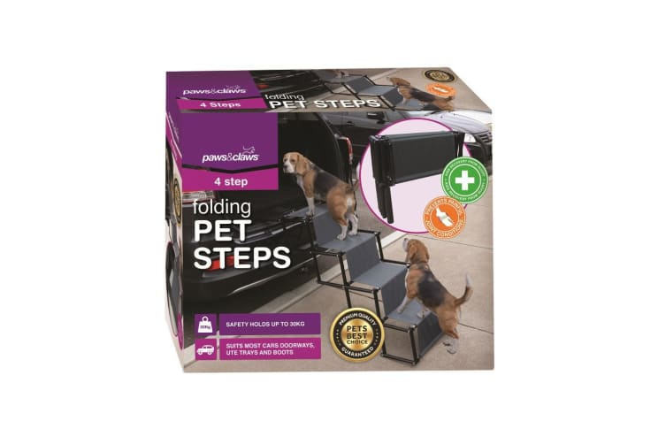 Paws&Claws Portable Foldable Dogs Pets Non Slip Steps/Stairs/Ramp for Car/Truck
