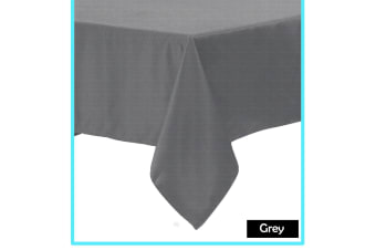 Polyester Cotton Tablecloth Grey 220 cm Round