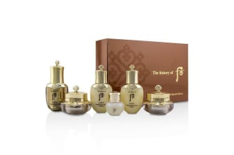 Whoo (The History Of Whoo) Cheongidan Radiant Special Gift Set: Balancer + Emulsion + Cream + Eye Cream + Essence + Ginseng Facial Oil 6pcs
