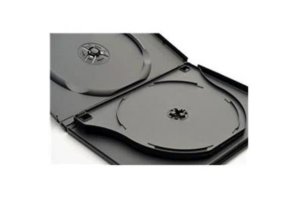Imatech 3-DVD Case Black 14mm thick with Flip Tray