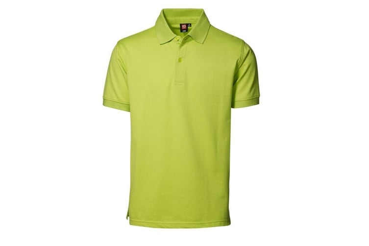 ID Mens Pique Short Sleeve Regular Fitting Polo Shirt (Lime) (2XL)