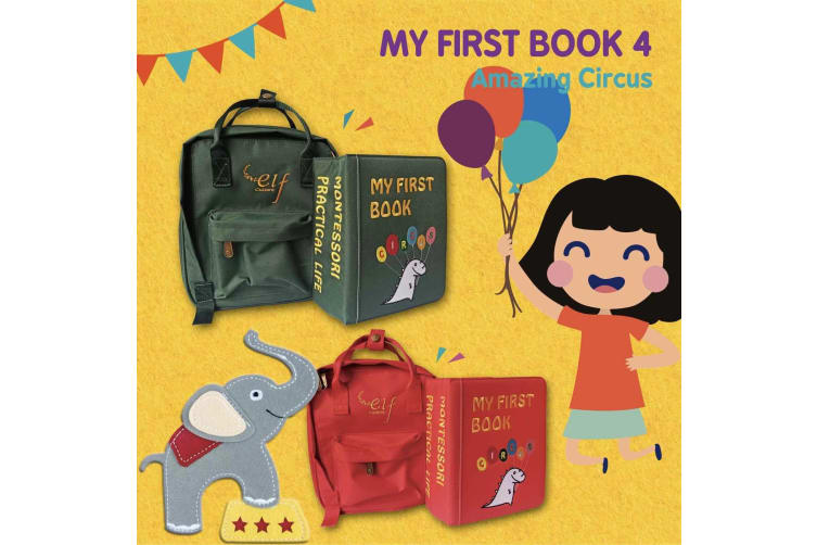 My First Book 4 Circus Book Red Childrens Books Kids Toys Book Gift Idea
