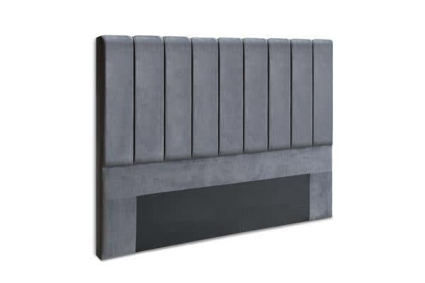 King Size Fabric Bed headboard Charcoal
