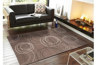 Modern Swirls Rug Grey