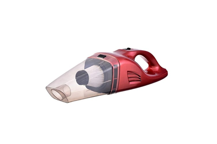 Wireless Car Vacuum Cleaner Portable & Dry Rechargeable Battery 12V Red Wireless