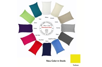 250TC Cotton Pillowcase Choose Your Size White by Easyrest