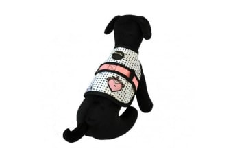 26 Bars & a Band Couture Princess Avant Garde Dog Harness (White/Black/Pink)