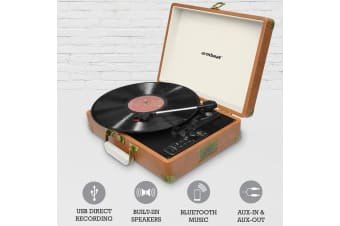 Aria Retro USB Turntable with Bluetooth and USB Direct Recording