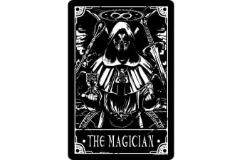 Deadly Tarot The Magician Tin Sign (Black/White) (One Size)