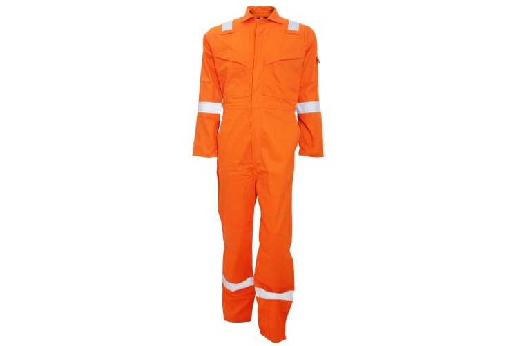 Portwest Mens Bizflame Flame Resistant Work Overall/Coverall (Orange) (XL/R)