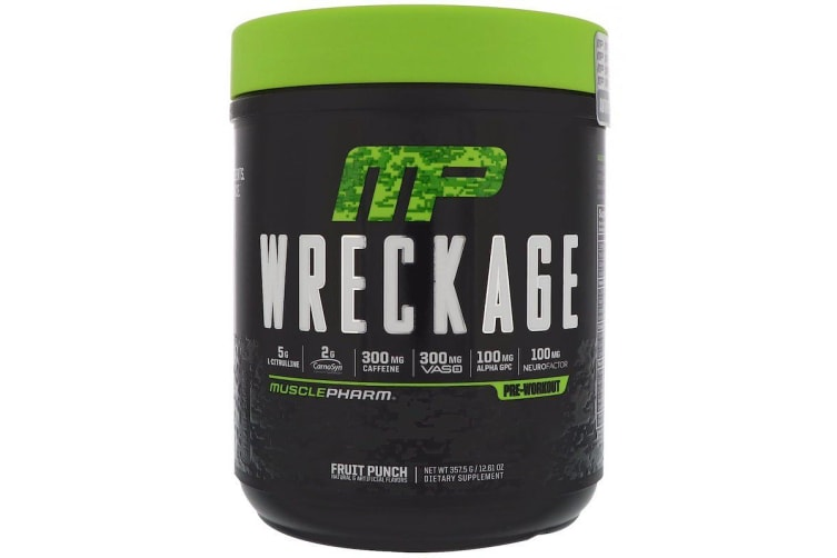 MusclePharm - Wreckage pre workout, Fruit Punch