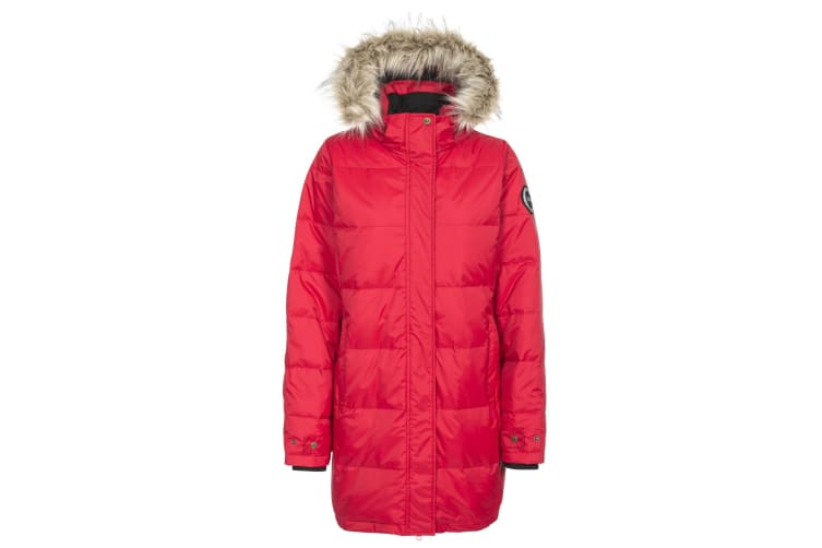 Trespass Womens/Ladies Ophelia Deluxe Hooded Down Jacket (Red) (S)