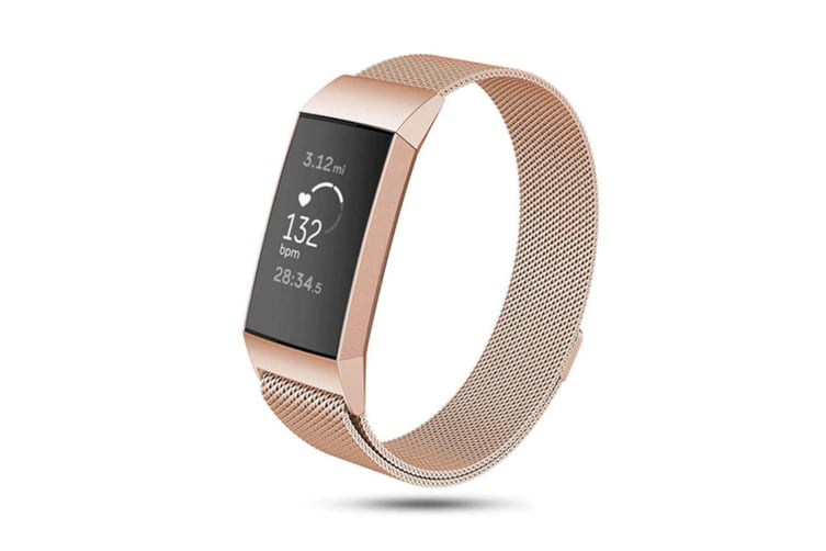 Milanese Loop Stainless Steel Replacement Bands for Fitbit Charge 3 and Charge 3 SE L