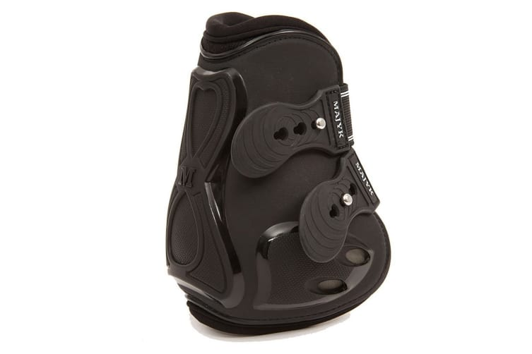 Majyk Equipe Europe Boyd Martin Snap Closure Open Fronted Hind Jump Boot (Black/Black) (Full)