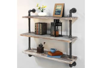 Artiss Industrial DIY Pipe Shelf Wall Shelves Brackets Display Vintage Bookshelf