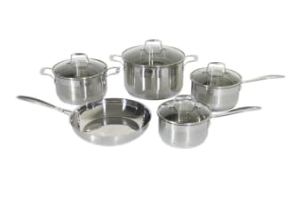 Westinghouse 5 Piece Stainless Steel Pot and Pan Set