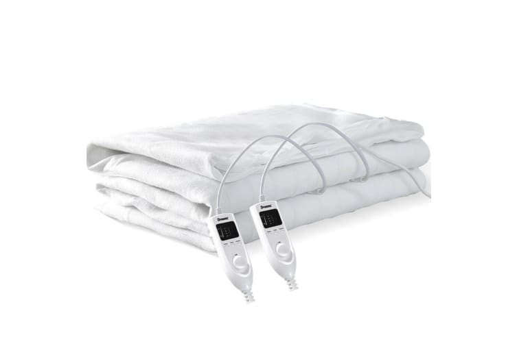 2x Dreamz 450 GSM Polyster Electric Blanket Heat Warm Winter Fitted Double Size  -  Double in Type B - 2pcs