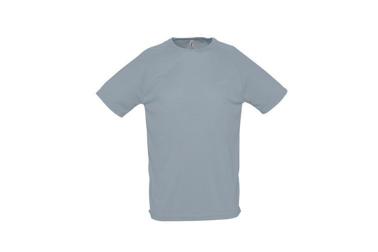 SOLS Mens Sporty Short Sleeve Performance T-Shirt (Pure Grey) (S)