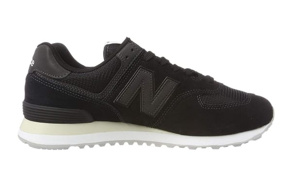 New Balance Men's 574 Shoe (Black, Size 12)