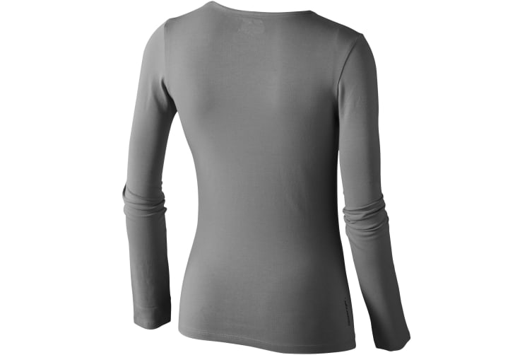 Slazenger Curve Long Sleeve Ladies T-Shirt (Grey) (S)